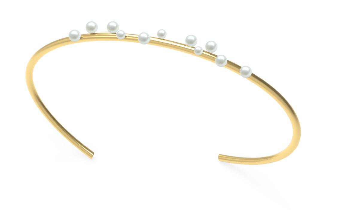 Ana João Portugiesischer Schmuck - Armreifen und Ohrringe aus Sterling Silber, Perlen, Onyx